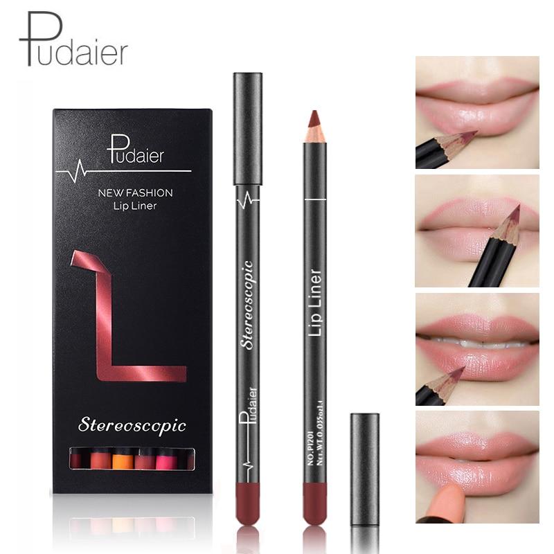 12pcs/set Matte Lip Liner Makeup Pen Red Velvet Lipstick Pencil for Lipgloss Shimmer Lips maquiagem profissional completa