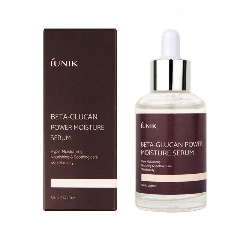 Iunik beta glucan energia soro de umidade 50ml creme hidratante profundo rosto soro hidratante anti rugas clareamento essência facial
