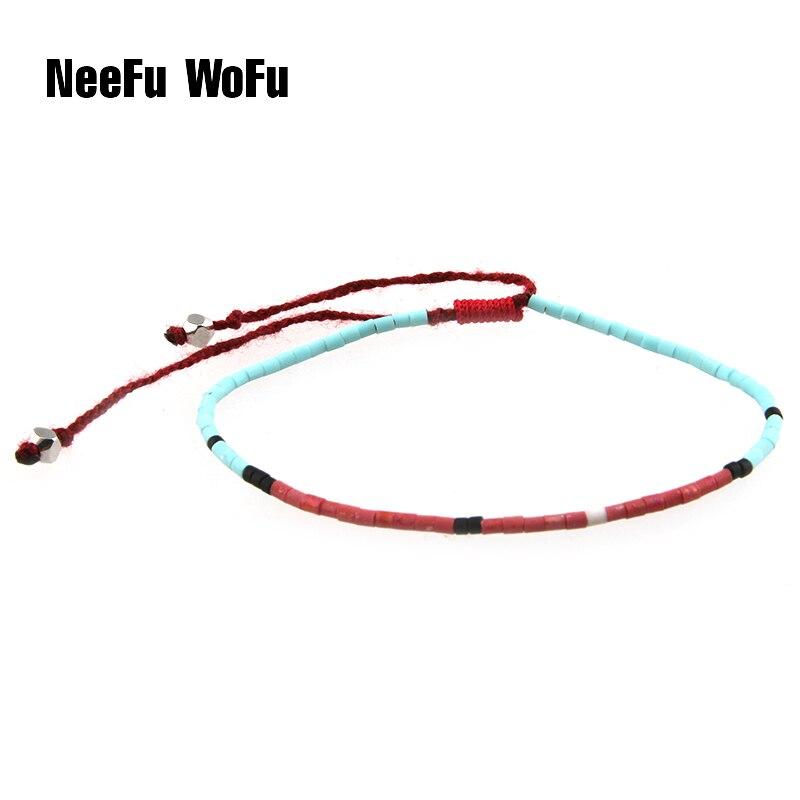 NeeFuWoFu Charm Bracelets Bangles Bohemia Seed Beads Bracelet Simple Cheap Tassel For font b Women b
