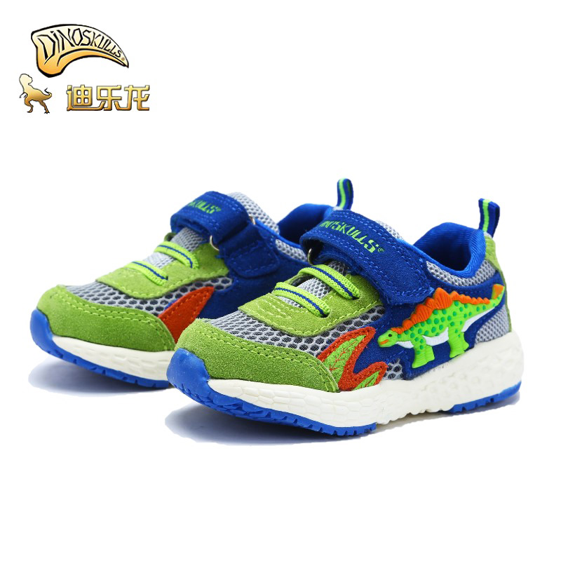 DINOSKULLS Toddler Shoes Tennis Baby 3 Years Kids Boys Unicorn Dinosaur Spring Summer Net Mesh Breathable Infant Sports Shoes