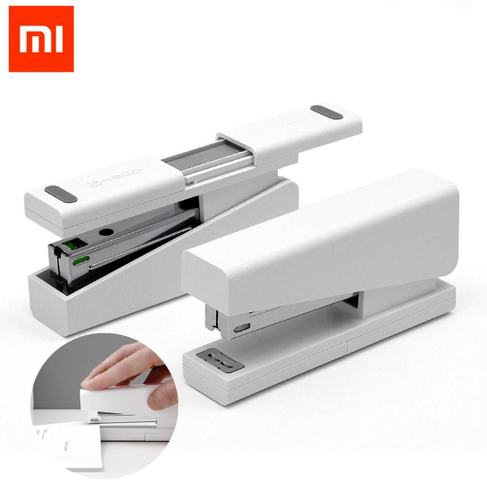Xiaomi Mijia Kaco LEMO Agrafeuse 24/6 26/6 avec 100 pcs Agrafes pour Papier Bureau École Pour xiaomi smart Home kit