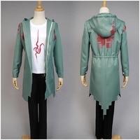 Super Danganronpa 2 Cosplay Costume Nagito Komaeda Nagito Army Green Color Jacket Coat ONLY Cosplay Costume Clothing Custom