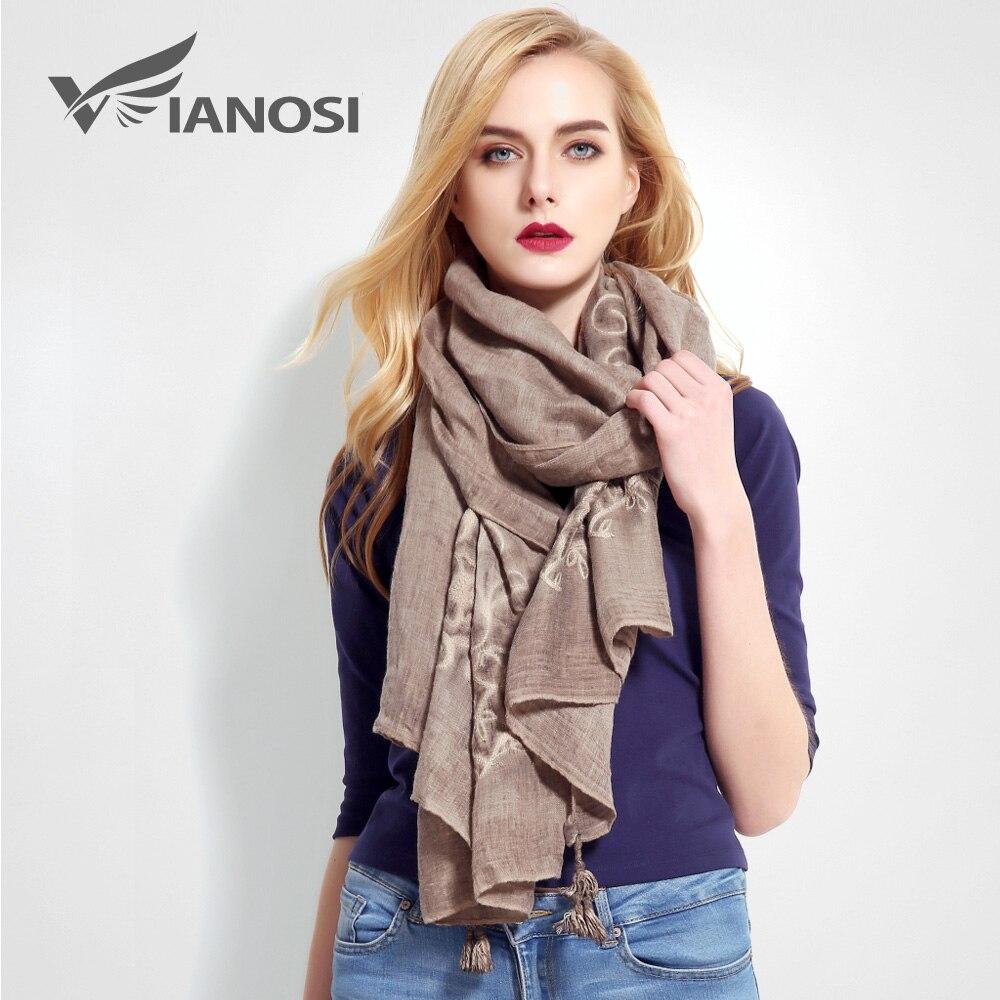 [VIANOSI] Fashion Bandana Luxury Cachecol Brand Cotton s