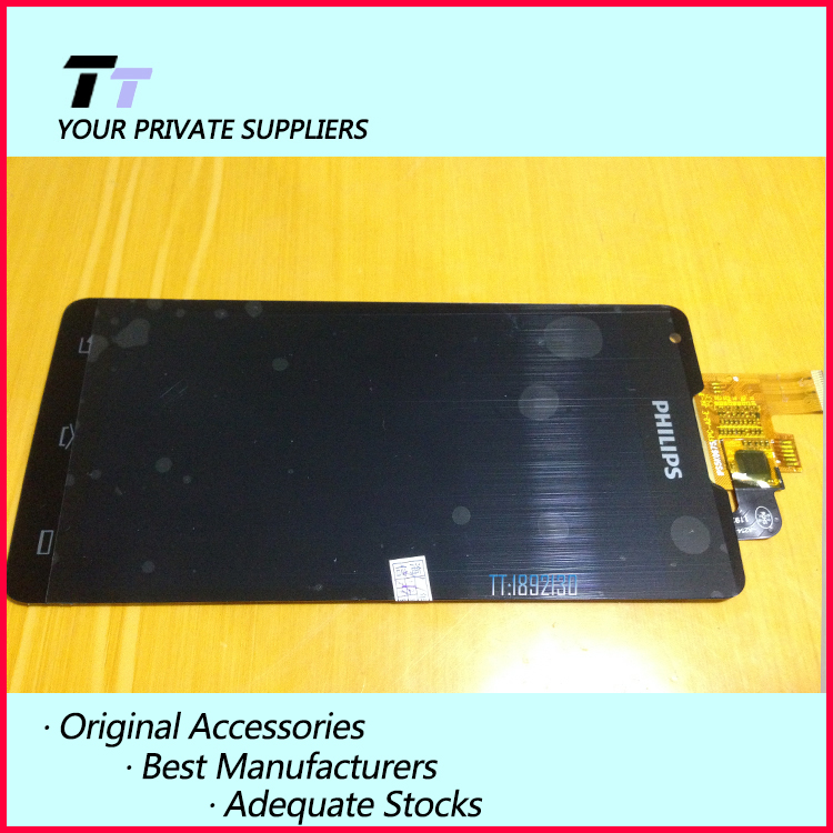 ФОТО Original New For Philips W6610 LCD display screen+Touch digitizer Replacement for Philips W6610 Free Shipping