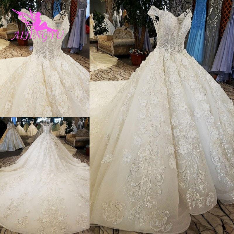 AIJINGYU Wedding Dress Retro Norway Ball Prices White