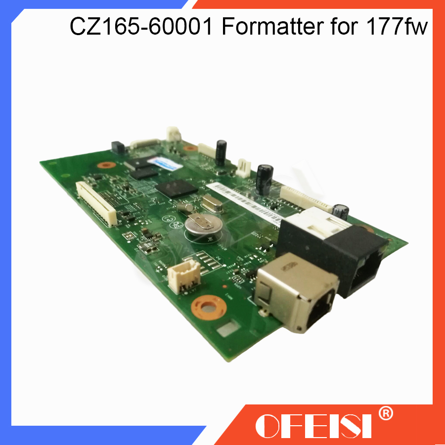 New Original Formatter Board PCA Assy logic MainBoard mother board CZ165-60001 for HP Color LaserJet Pro MFP M177 177FW M177FW free shipping formatter board for hp color laserjet pro mfp m177 m177fw pca formatter wireless cz165 60001 printer parts on sale