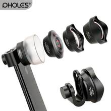 Pholes Fisheye Wide Angle Lens Macro para iPhone Android Retrato Xs Max XR Lente com Clip para o iphone X piexl Samsung(China)