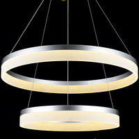 NEW Modern LED Chandeliers 75W White Acrylic For Dinning Room Restaurant Bedroom Study Chandelier Lighting CE