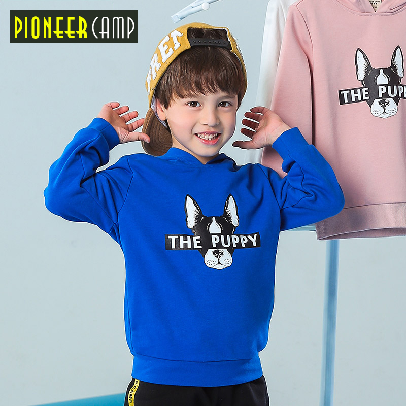 Pioneer camp kids spring new boys hoodies sweatshirts warm T-shirt children clothing hooded hoodies quality tshirt boy BWY810025
