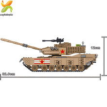 1051PCS Army M1MA Tank Building Blocks Compatible Legoingly Military Soldier DIY Bricks kids Toys Gifts For Children boys(China)