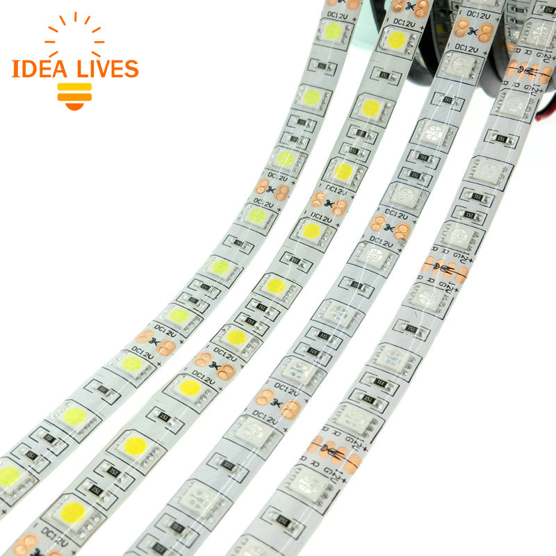 led strip 5050 dc12v 60leds m 5m lot flexible led light rgb 5050 led strip in led strips from. Black Bedroom Furniture Sets. Home Design Ideas