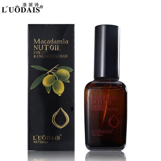 Luodais бренд Уход за волосами Лечение кожи головы 100% чистый маслом марокканского Аргана масло ореха макадамии для сухих и поврежденных волос 50 мл