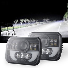 Super Bright 300W 5X7 H4 6000K 30000LM Led Headlights Led Sealed head light lamp With High Low Beam czg 5780 silver color 7 square led headlight 80w 5x7 led headlamp with hi low beam 5x7 inch led head lamp for truck heavy duty