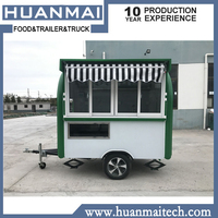 Mobile Catering Trailer Food Truck Trailer Coffee Van Crepe Cart