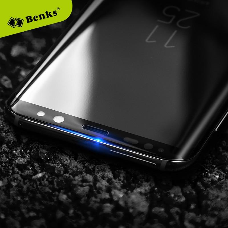 imágenes para Benks 3D borde doblado por calor tamaño Completo templado protector de pantalla Para Samsung Galaxy S8/S8 Más Prueba de Rayas Negro