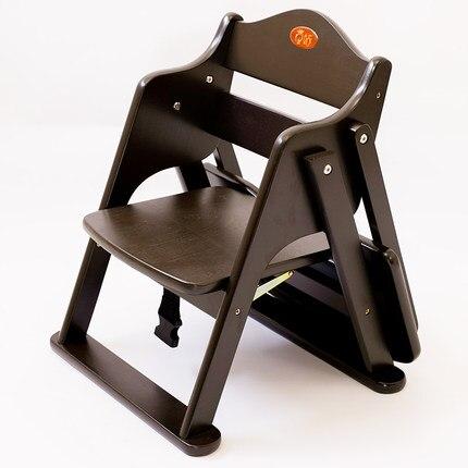 Chaise de salle à manger bébé en bois massif multi-fonction table et chaise bébé pliante en hêtre siège enfant pliable portable