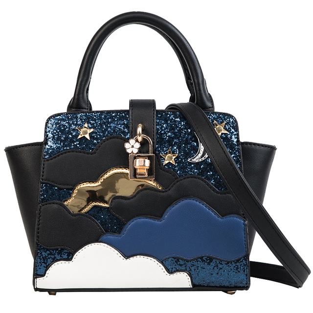 67e67a44195d Hot Sale 2018 Japan Lovely Girls Sequins Sailor Moon Bag Bat Wings Luxury Handbags  Women Bags