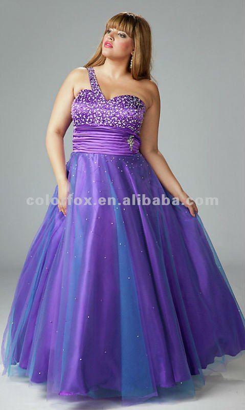 Purple Sequin Diamond Embellished Bust Ruched Waist One Shoulder