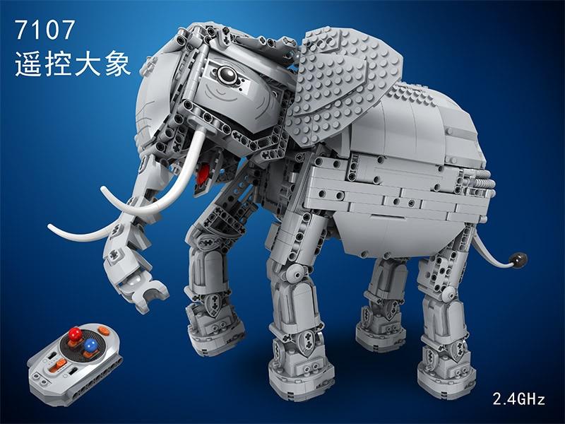 Winnaar 7107 Technic Makers 1542pcs Creative RC Afstandsbediening Olifant Dier Elektrische Bouwstenen speelgoed voor Kinderen - 2