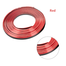 Dewtreetali 3M/Lot Car Interior Sticker Decoration Strip Chrome Air Conditioner Outlet Vent Grille Strips Stickers