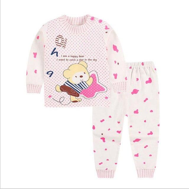 Cotton Baby Girls Clothes Winter Newborn Baby Clothes Set 2PCS CartoonBbaby Boy Clothes Unisex Kids Clothing Sets bebes 1