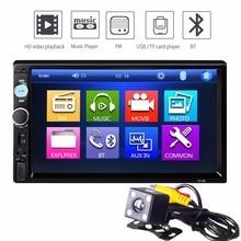 7 Дюймов 2 Двойной Din Автомобильный MP5 Плеер Поддержка SD USB Fm-радио Bluetooth Видео Пульт Дистанционного Управления MP3 Аудио Стерео Сенсорный Экран
