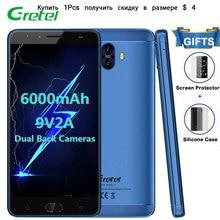 Гретель GT6000 Смартфон Android 7.0 2 ГБ Оперативная память 16 ГБ Встроенная память 5.5 дюйм(ов) мобильный телефон 4 ядра 13.0MP OTG 6000 мАч 4 г Разблокировать сотовый телефон