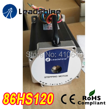 Free Shipping GENUINE Leadshine 86HS120 2 Phase NEMA 34 Hybrid Stepper Motor with 8.4 N.m 4.2 A length 156 mm shaft 12.7 mm free shipping genuine leadshine 110hs28 phase nema 42 hybrid stepper motor with 28 n m 6 5 a length 201 mm shaft 19 mm