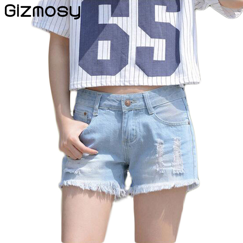 1 Pcs Summer Casual Women Shorts Sexy Jeans Denim Shorts Plus Size Pants Hole Lady Short