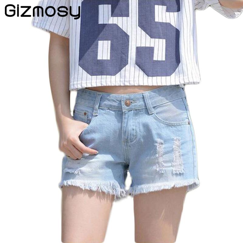 1 Pcs Summer Casual Women Shorts Sexy Jeans Denim Shorts Plus Size Pants Hole Lady Short