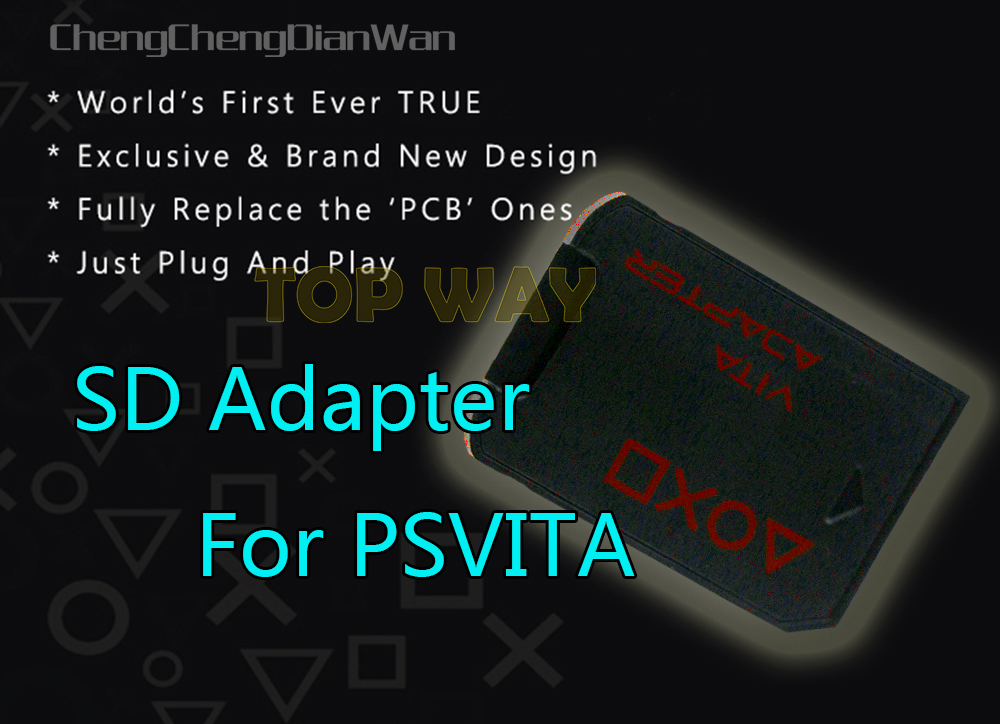 New For <font><b>SD2vita</b></font> tf sd card adaptor adapter <font><b>V3.0</b></font> for ps vita for psvita psv1000 psv2000 ChengChengDianWan image