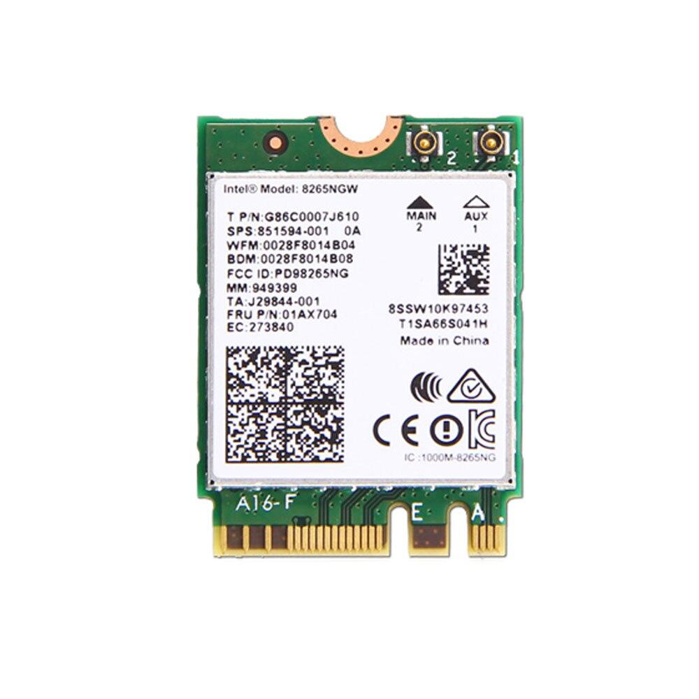 Galleria fotografica <font><b>Intel</b></font> 8265 2x2AC + BT PCIE M.2 WLAN NV Carte Pour Lenovo YOGA 720-13IKB 720-15IKB MIIX 720-12IKB Série, FRU SW10K97453