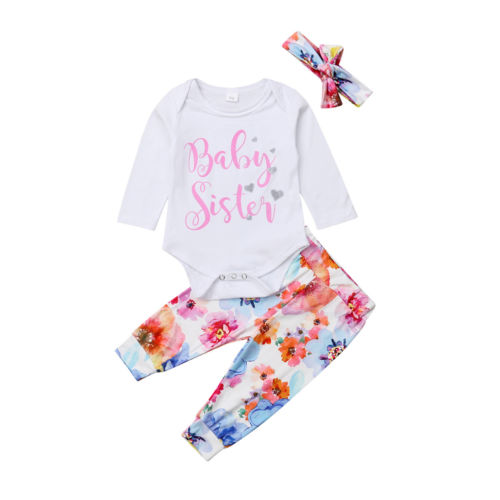 0f8cd168562 Aliexpress.com   Buy Newborn Baby Girls Clothing Tops Romper Floral Pants  Headband Colorful Floral Cute Outfits Clothes Baby Girl 0 24M from Reliable  ...