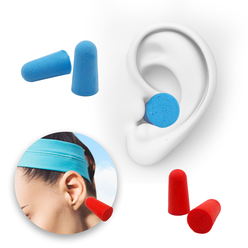 10PCS Comfort Earplugs Noise Reduction Foam Soft Ear Plugs Noise Reduction Earplugs Protective For Sleep Slow Rebound Earplugs