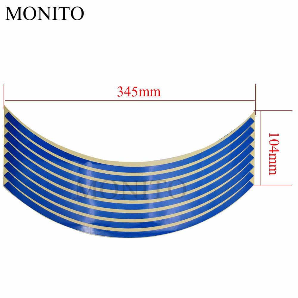 "Motorcycle Wheel Sticker 16"" 17"" 18"" Reflective Decals Rim Tape Strip For Honda CB190R forza 300 CB400 SF CBR650 R GROM MSX125"