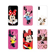 For Apple iPhone X XR XS MAX 4 4S 5 5S 5C SE 6 6S 7 8 Plus ipod touch 5 6 Minnie & Mickey Woman Love Mouse Kiss Cartoon TPU Case(China)