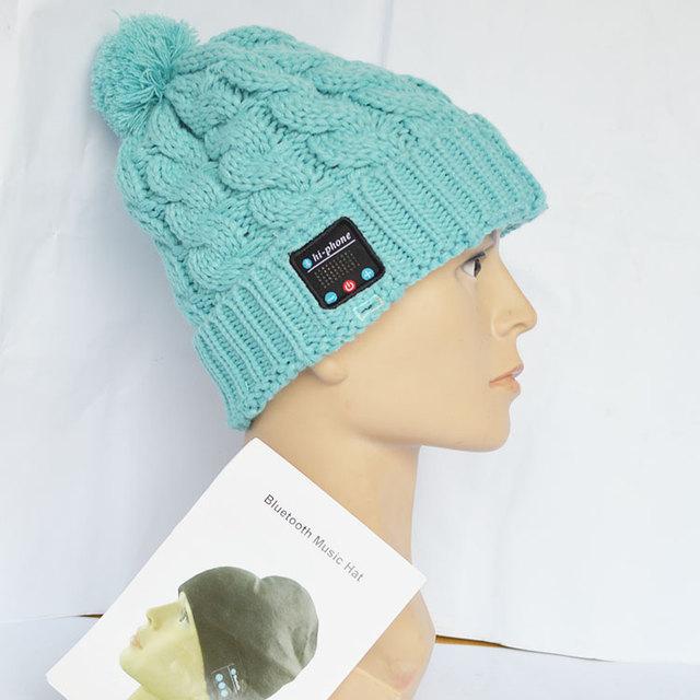 Soft Warm Beanie Hat Cap con Auriculares Estéreo de Música Bluetooth Headset Micrófono Altavoz Inalámbrico de Manos Libres.