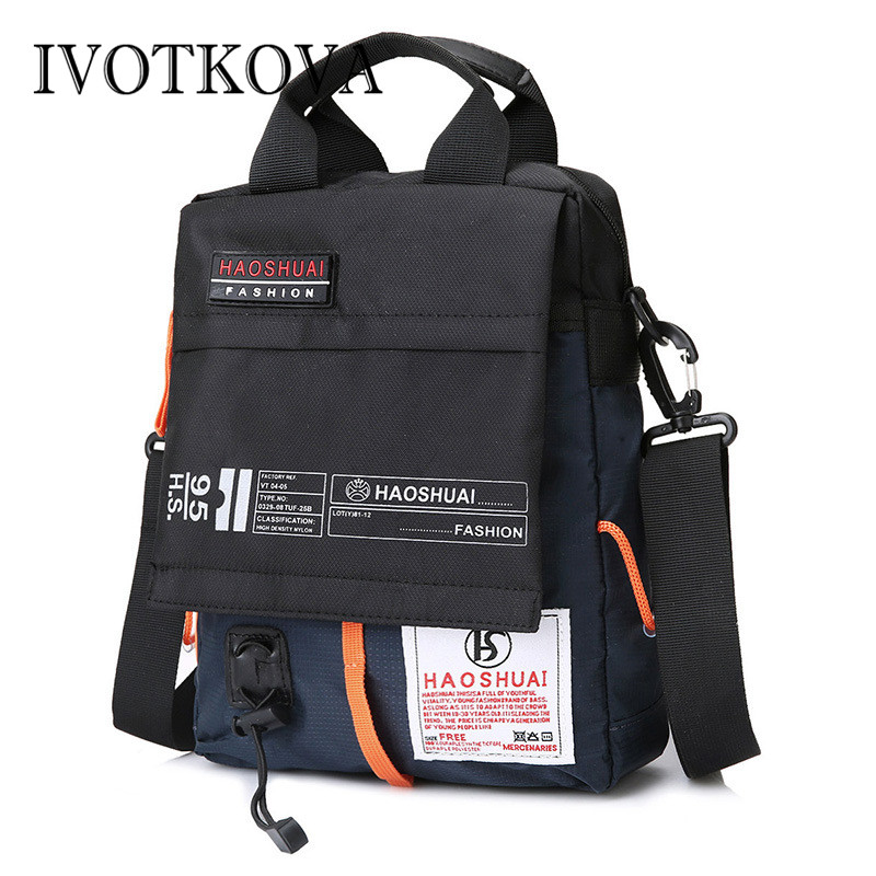 IVOTKOVA Men Handbags Purses Crossbody-Packs Vintage Waterproof Casual Men's Male New-Arrival title=
