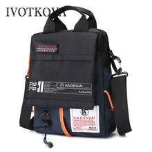 IVOTKOVA Casual Mens Shoulder Bags New Arrival Male Crossbody Packs Vintage Waterproof Men Handbags & Purses Travel