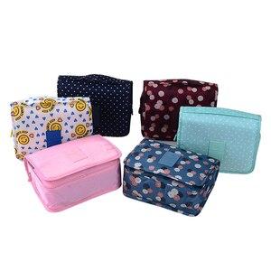 Image 3 - Nuevo estuche para maquillaje de viaje para colgar en la pared, bolsa de maquillaje para mujer, neceser colgante, Kit de viaje, organizador de joyas, estuche para cosméticos