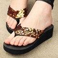 Women Flip Flops female Sandals Summer Sequins Beach Slippers Women Sandals Cross Flat Shoes Women Flip Flops Cheap OR670951