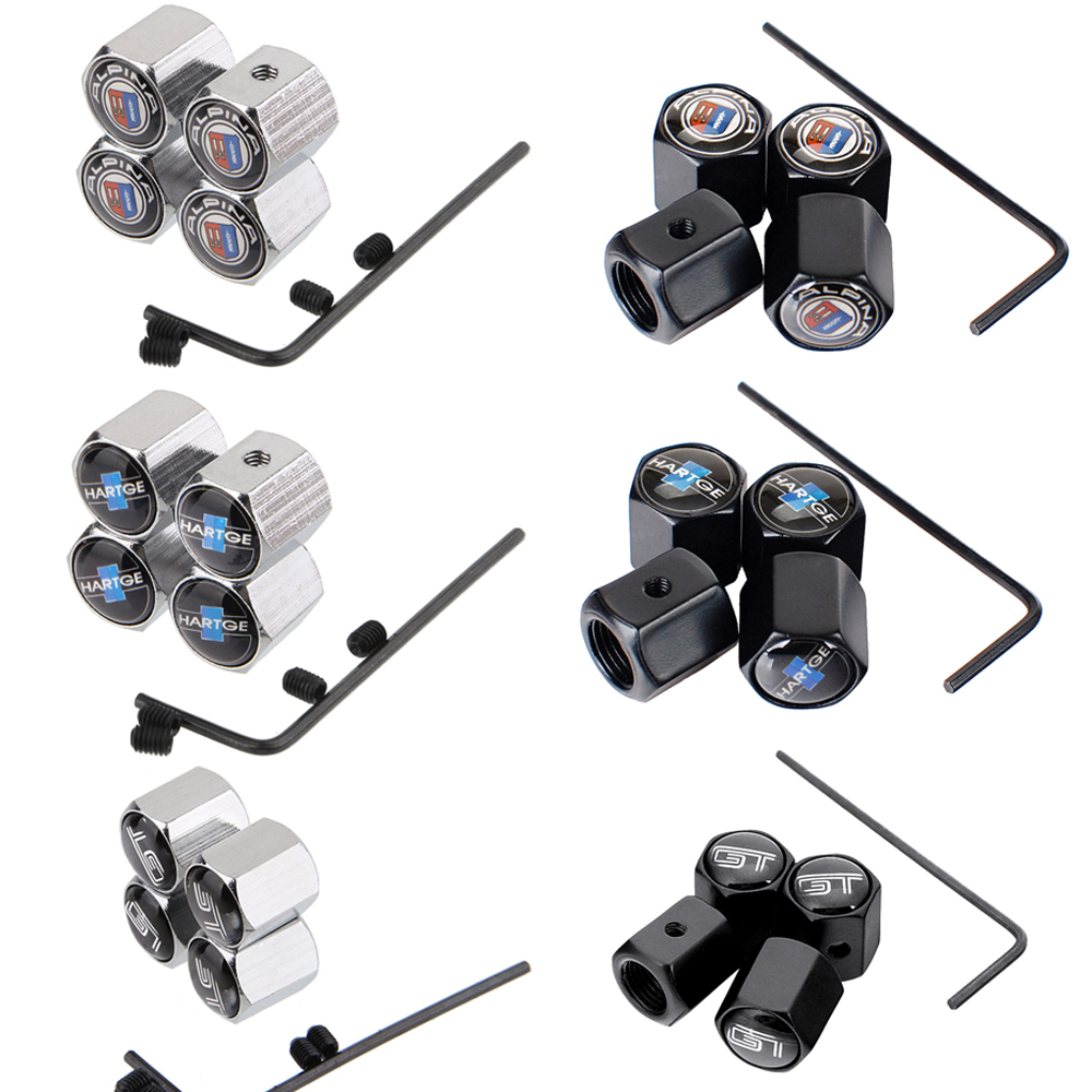 Car Accessories Wheel Anti-theft Valve Caps Tire Valve Stem Caps Rim Sticker For BMW E46 E90 E39 E60 E36 F30 F10 GT X5 E53 Z4 Z3