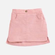 Babyinstar High Waist Button Skirt Solid Short Kids For Baby Autumn Children Summer A-line Trendy Clothing
