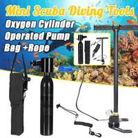 Diving Equipment Snorkel Hand Operated Pump For Scuba Diving Cylinder Oxygen Air Tank Snorkeling High pressure Pump Spare Parts