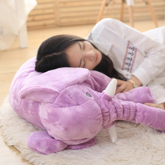 Giant Plush Stuffed Elephant Soft Toy for Baby (Blue, Pink, Purple, Yellow, Grey)
