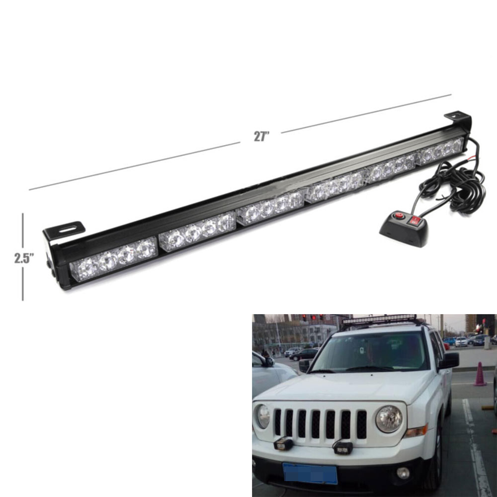 24led 27 emergency warning traffic advisor flash strobe light bar. Black Bedroom Furniture Sets. Home Design Ideas