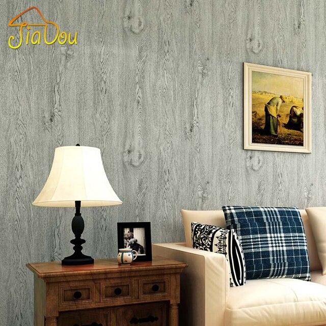 estilo vintage imitacin madera textura naturaleza fibra vegetal no tejido del papel pintado dormitorio sala de