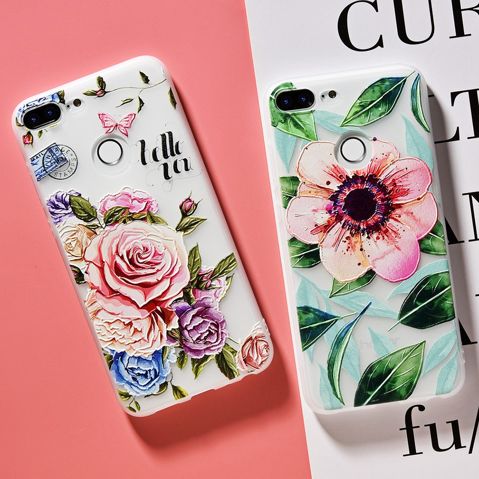 3D Relief Flower TPU Case For On Honor 9 9 lite Soft Silicone Case Back Cover Case for Huawei P20 P10 lite NOVA 2 Case           (11)