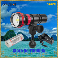 Archon D26VR 2000 Lumen White and Red LED Scuba Diving Underwater Photography Video Light with battery and charger