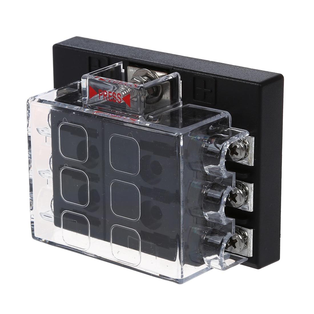 fuse holder box case plug for car autos 6 places in fuses. Black Bedroom Furniture Sets. Home Design Ideas